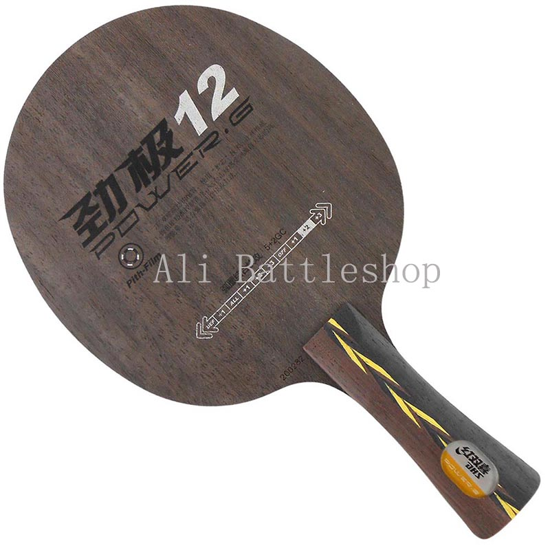 Table Tennis Rackets Hongshuangxi/Dhs Off++ Great Power Perfect Control Seven Layer Double Glassy Carbon Structure 12/ Power.G12<br><br>Aliexpress