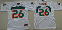 Nike Free Shipping stitched college fit size Hurricane HOT SALE Top quality For youth,#20 Ed Reed #52 Ray Lewis #26 size s-xxxl(China (Mainland))