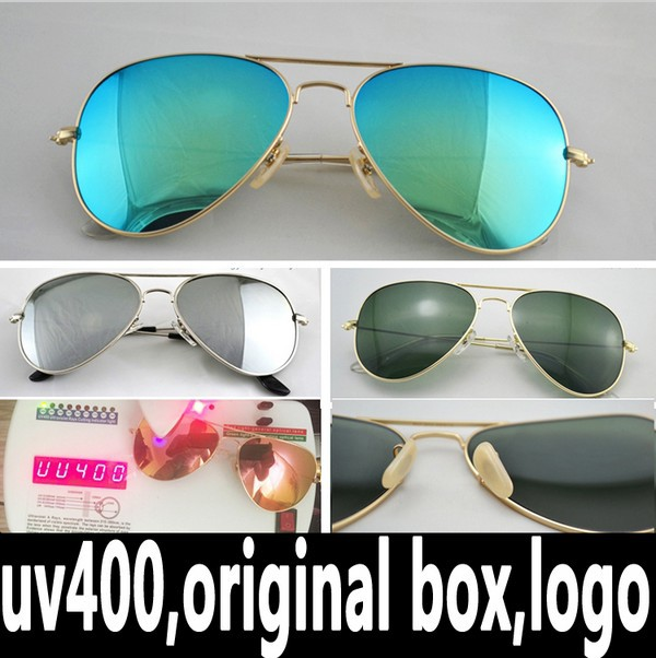 2 pcs Free shipping RB 3025 3026 Aviator Driving Mirror Gradient Polarized Flash lenses Sunglasses(China (Mainland))