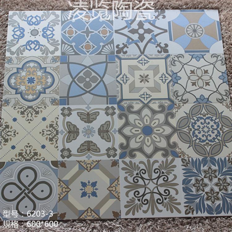 600X600 antique floor tiles indoor antifouling slip paving brick art parquet wholesale home improvement projects LL(China (Mainland))