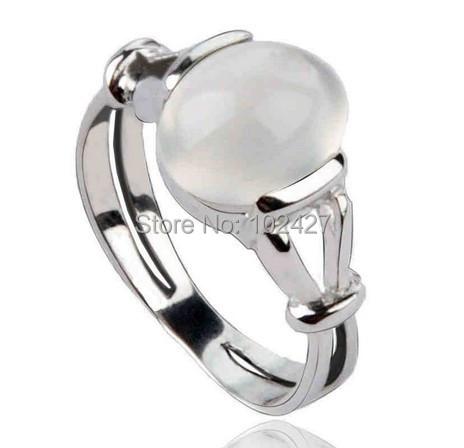 Free Shipping Vampire Twilight Jewelry Bella Engagement Wedding Ring Moonstone Ring for Valentine's Day(China (Mainland))