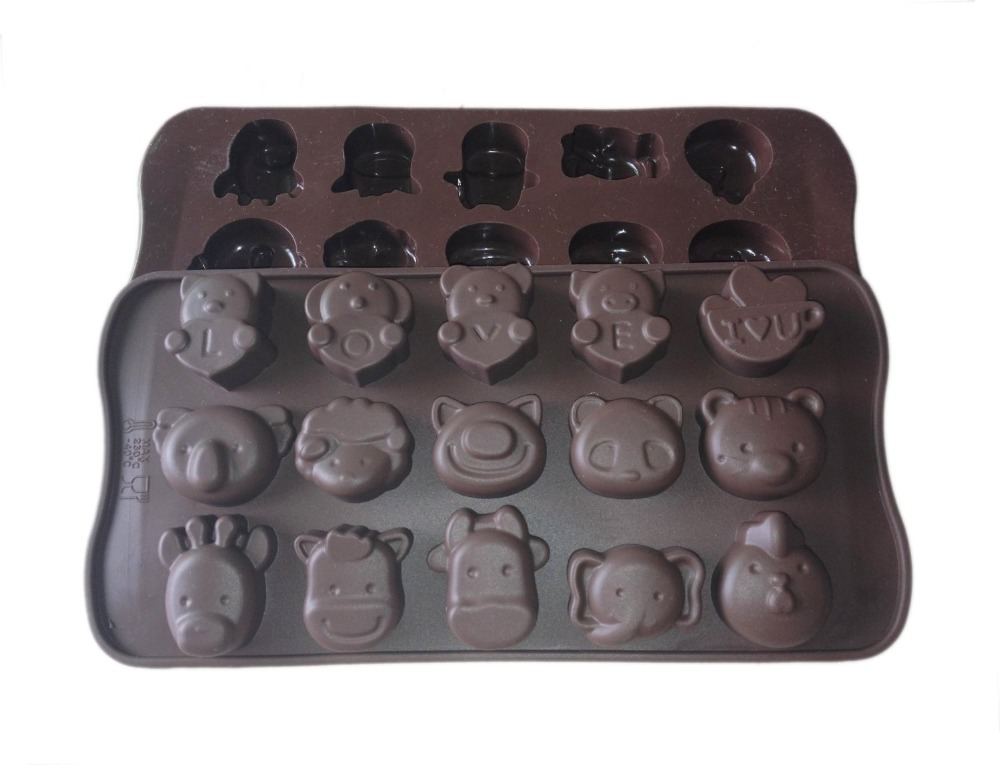 ANIMAL love SILICONE MOULD muffin pan ice cube tray cake cookie chocolate soap mold - Tomshow store
