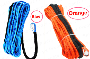 Free Shipping 9MM*30M 12 Strand UHMWPE Synthetic 4X4/ATV Winch Rope With Thimble