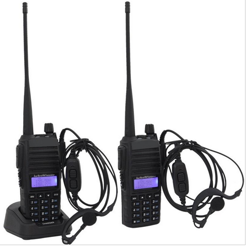 2PCS Baofeng Authorized Supplier Original Baofeng UV-82 Amateur Walkie Talkie with Double-PTT Headset(China (Mainland))