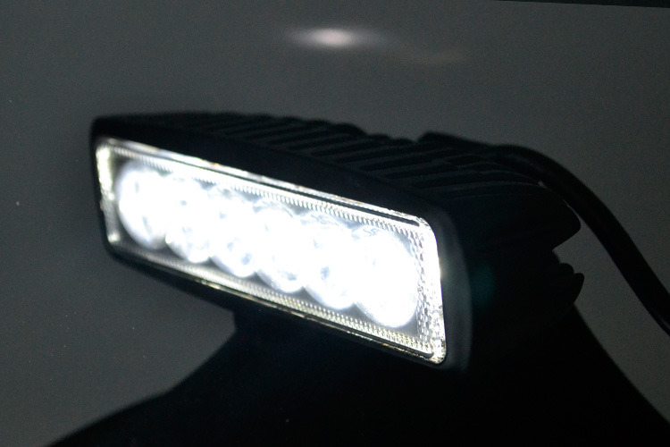 """Купить Fuchutech 2 шт. 6 """" дюймовый 18 Вт из светодиодов свет бар лампы для вождения грузовика прицепом мотоцикл внедорожник ATV OffRoad автомобилей 12 В 24 В наводнение пятно"""