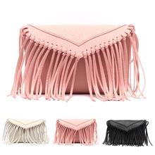 2015 New Fashion Tassel Mini Women Bags Ladies Small Casual PU Leather Fringe Satchel Crossbody Messenger