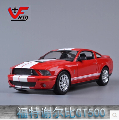 Ford Shelby GT500 Cobra Welly FX car model 1:24 Mustang Original simulation sports car model Fast and Furious Dodge Challenger(China (Mainland))