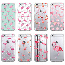 Buy Cute Summer Tropical Tropic Flamingo Animal Soft Clear Phone Case Coque Fundas iPhone 7 7Plus 6 6S 6Plus 5 5S SE 5C SAMSUNG for $1.43 in AliExpress store