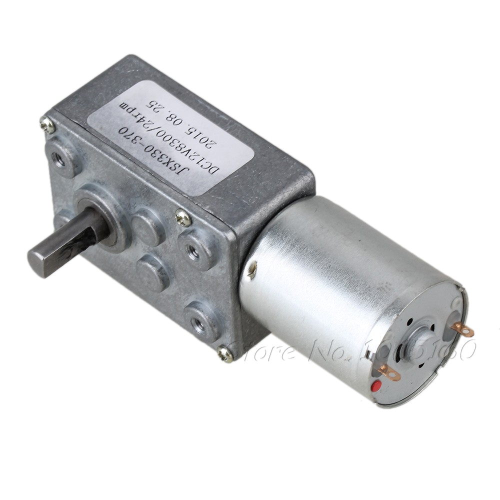 24rpm low speed dc 12v motor high torque turbo worm for High torque high speed dc motor