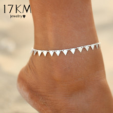 Buy 17KM 3 Style New Triangle Geometry Anklet Foot Chain Ankle Summer Bracelet Charm Anklet Tassel Sandals Beach Foot Jewelry Gift for $1.49 in AliExpress store