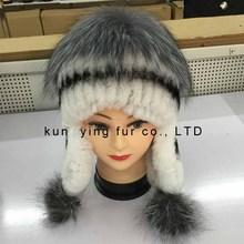 Silver fox of otter woven protective ear cap