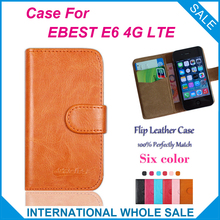 Hot! 2016 EBEST E6 4G LTE Case New 2015 items Factory Price Flip Leather Cover Case+tracking number - lin-go's store