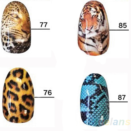 Wild Style Water transfer Nail Full Wrap Decal Nail Art Decoration Sticker Tips 02ZV 2NQ1(China (Mainland))