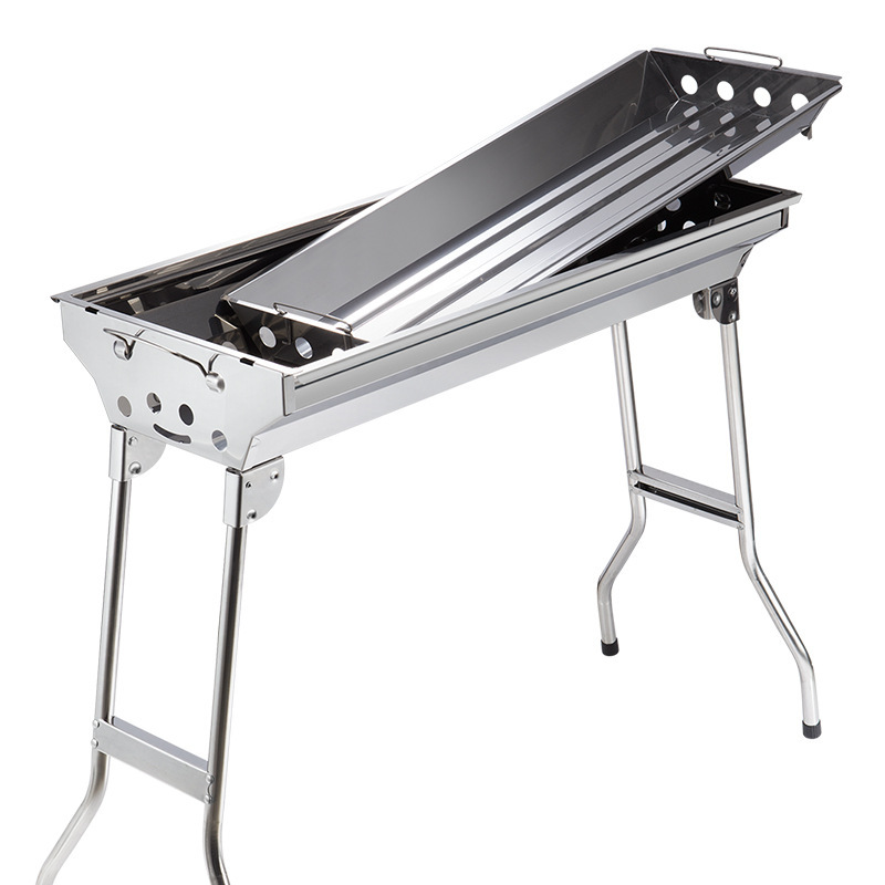 Primitive folding stainless steel grill home outdoor