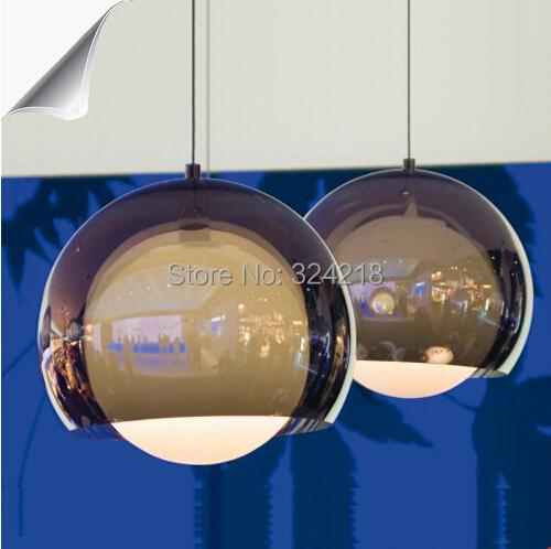 Fashion restaurant lamp brief modern lamp bar counter personalized lighting lamps design light pendant glass ball kind(China (Mainland))