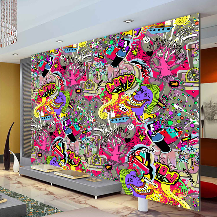 Buy graffiti boys urban art wallpaper 3d for Custom wall photo mural