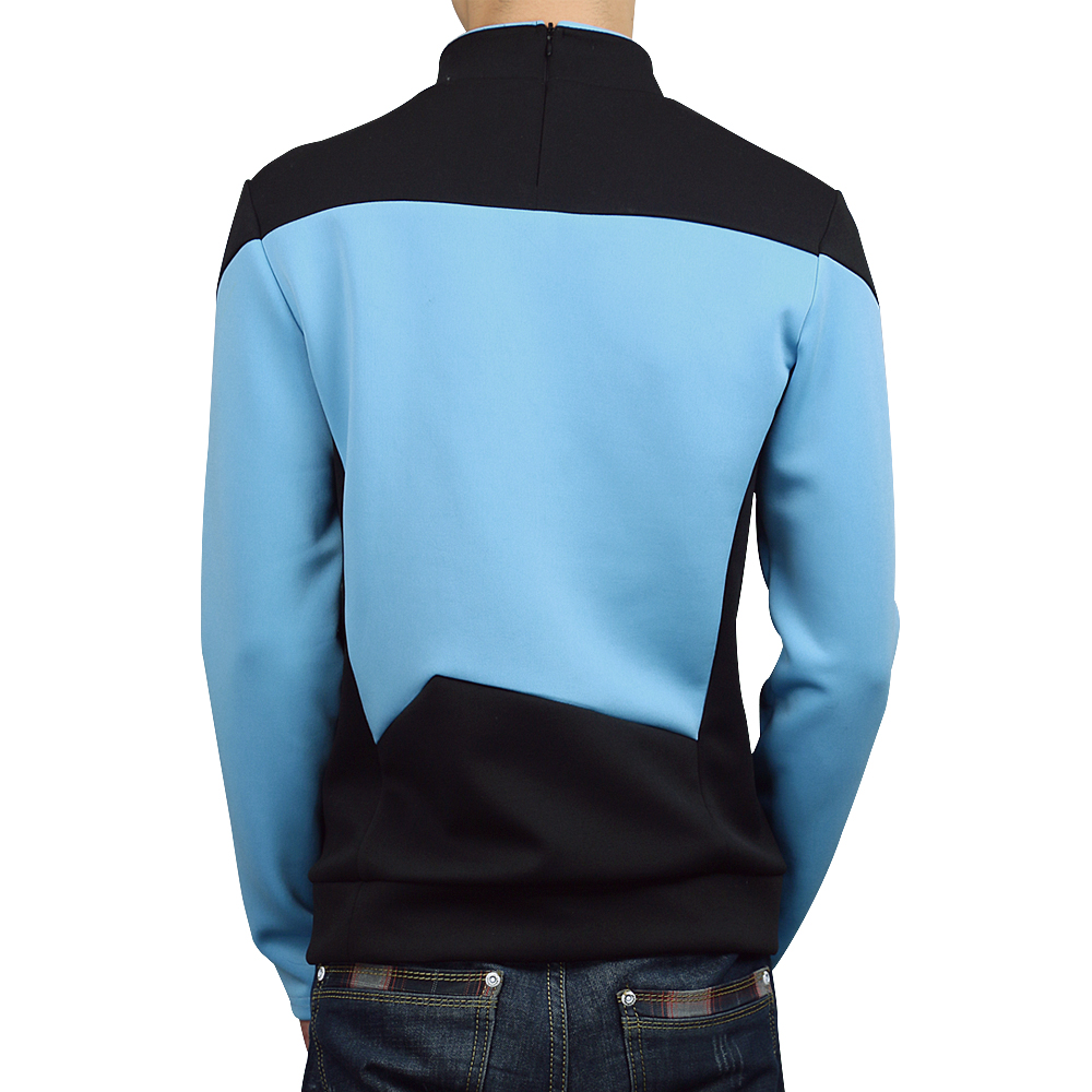 Star Trek TNG The Next Generation Red Yellow Blue Shirt Uniform Cosplay Costume For Men Coat Halloween Party (12)