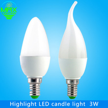 Led Candle Bulb Light Brand Candle Light Lamp E14 3W Spotlight SMD 2835 Warm Cool White 220V Chandelier Partners Free Ship(China (Mainland))
