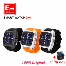 E-mi 2016 Bluetooth X01 Android 4.4.2 system Smart Watch function WIFI Waterproof Camera GPS 3G Smartwatch wearable devices(China (Mainland))