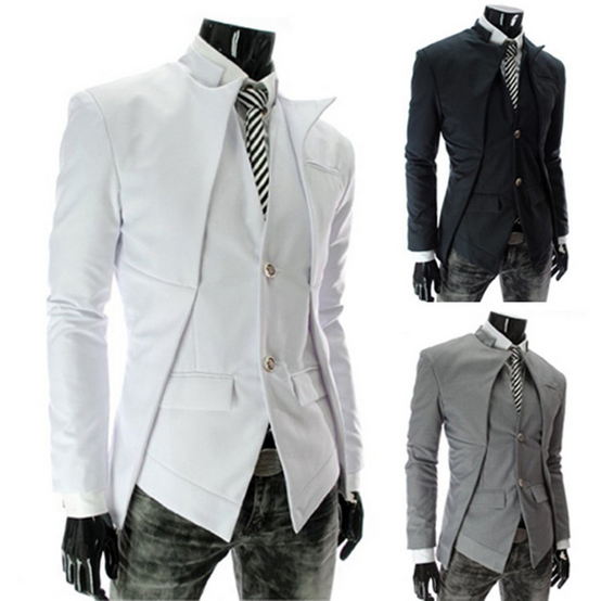 Size m xxl wedding dress party jackets long slim casual for Blazer with dress for wedding