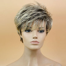 2015 Newest Popular 1 Pcs/10″ Curta Perucas Lady Delicate Short Straight Mix Color Hair Wig Synthetic Costume Party Wig Cos Wig