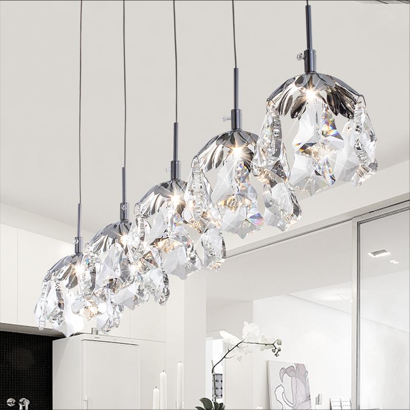 Vemma Scandinavian modern minimalist personality LED Maple K9 crystal chandelier bedroom lamp single head Restaurant Bar(China (Mainland))