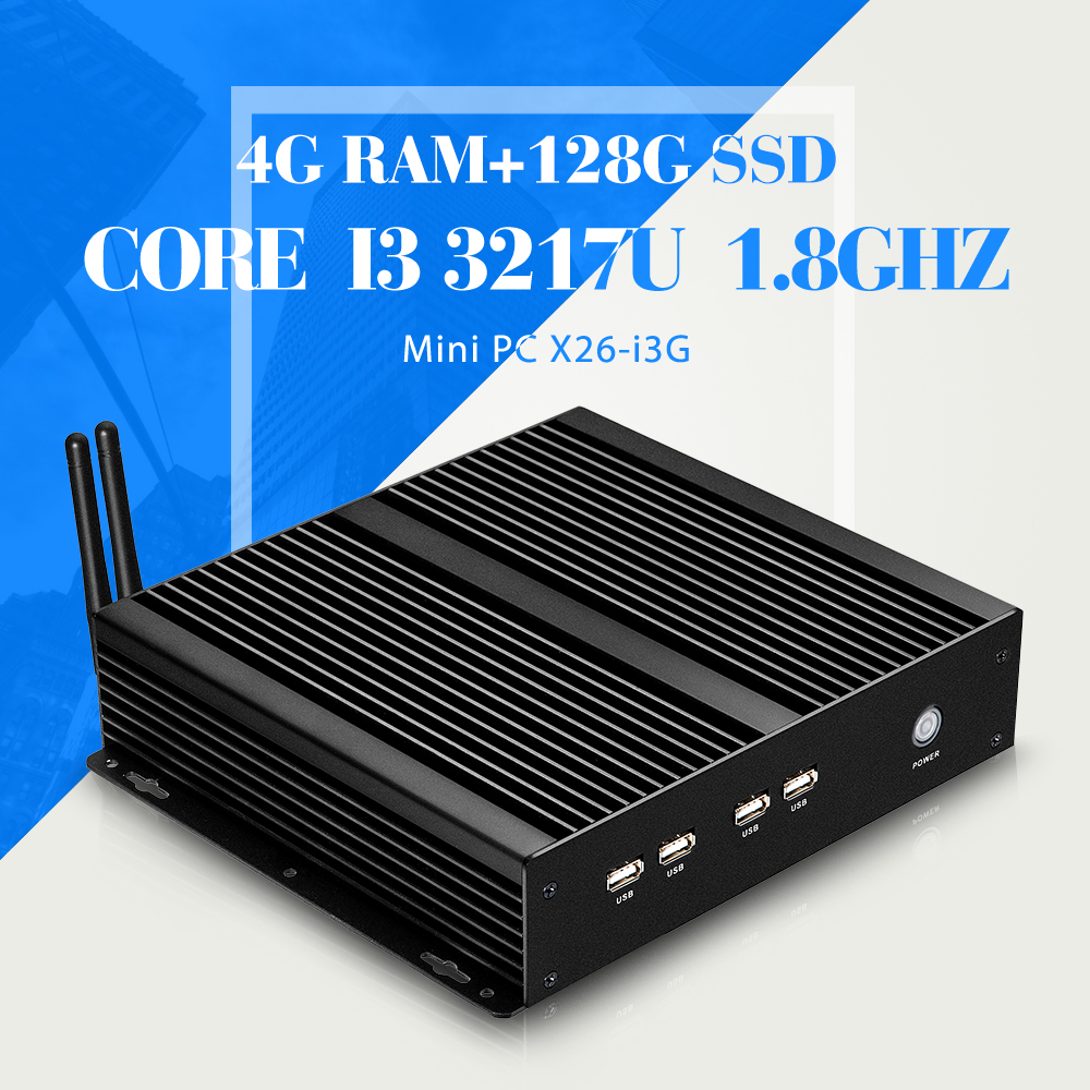 The highest ratio of i3 3217u desktop computer mini pc mother board 4GB ram 128GB SSD+WIFI support bluetooth embedded audio(China (Mainland))