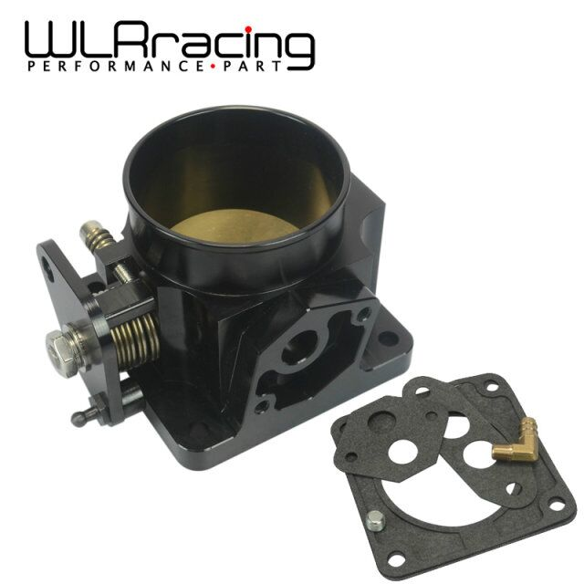 WLRING STORE -Free shipping BLACK 75MM BILLET CNC THROTTLE BODY FOR 86-93 FORD MUSTANG GT COBRA LX 5.0 WLR6958BK(China (Mainland))