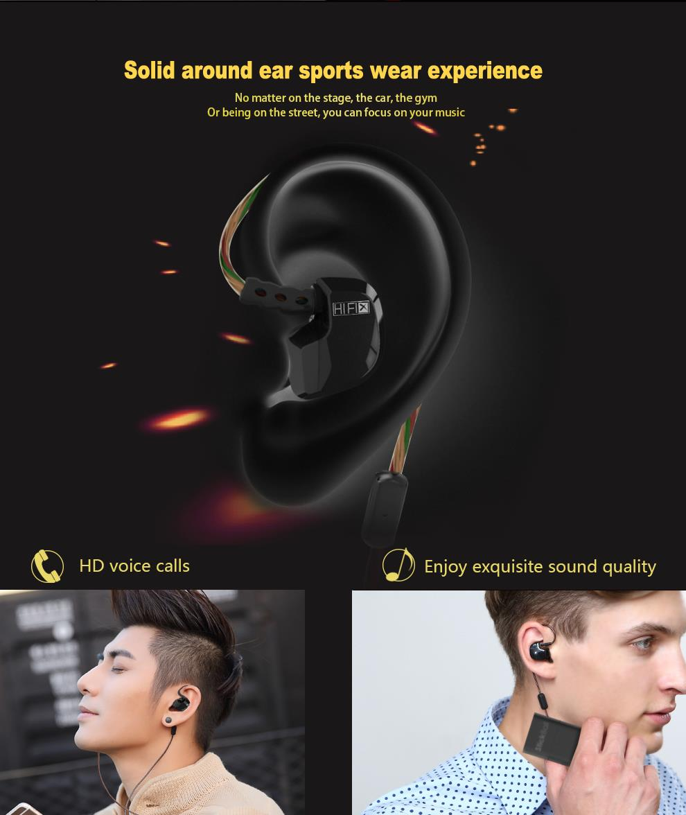 Earphone Original Brand QKZ DM200 Super Bass In-Ear auriculares with Mic 3.5mm Hifi Gold Plated Go Pro Music fone de ouvido