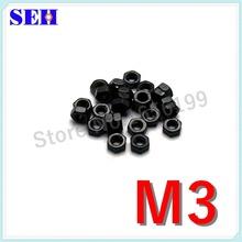 300pcs 100% New M3 Nut Hex Nut Grade 8.8 Black Stainless Carbon Steel Thread Nut High Strength Hex Nutsert(China (Mainland))