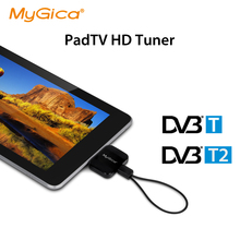 latest highly sensitive! DVB-T2 android TV tuner Geniatech MyGica PT360 DVB T2 Pad TV receive mini USB dvb-t android phone(China (Mainland))