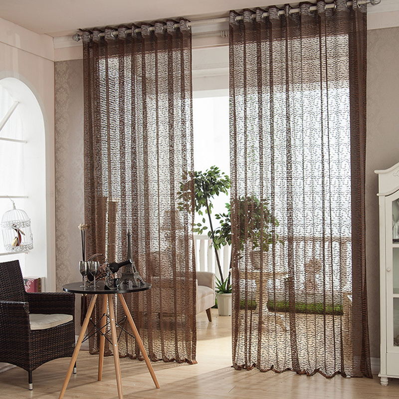 Buy 4color high quality solid window for Living room net curtains