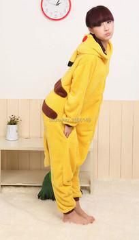 Cartoon animal costume Pikachu Onesies Pajamas adult Pyjamas Unisex pijamas ,sleepwear, party clothes
