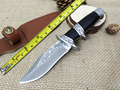 Damascus Knife High Grade Gold Wood Handle Damascus Steel Fixed Collection knife Outdoor Tools Damascus Hunting