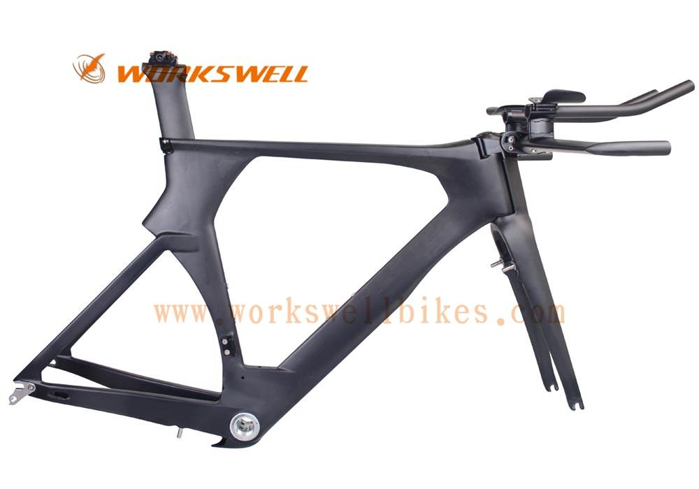 2017 newest carbon frame tt bike frame china dengfu TT bicycl time trial carbon frame di2 compatible tt bike frame UD matt(China (Mainland))