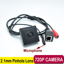 mini ip camera ip Wide Angle140 degrees 1.0MP ONVIF H.264 P2P Mobile Phone Surveillance CCTV IP Camera 2.1mm Pinhole lens hideen