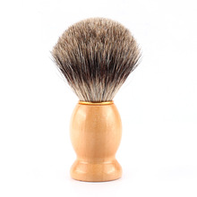 Y28 2016 New arrive hot selling 1PCS Wood Handle Badger Hair Shaving Brush For Best Men Father Gift Barber Tool free shipping