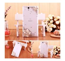 Buy Beautiful Diamond Rhinestone Camellia Flower case cover For Sony Z1 Z2 Z3 Z4 Z5 mini Compact M2 M4 M5 T3 E3 E4 C3 C4 C5 Lt26i for $3.66 in AliExpress store