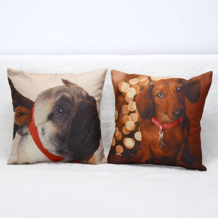 3D french bulldog cushion cover print home decor office sofa decorative throw pillow covers 45cm hot sale in aliexpress