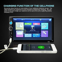 """7""""HD Double 2DIN Car Stereo Rear-View Bluetooth Touchscreen MP5 Player Radio USB(China (Mainland))"""
