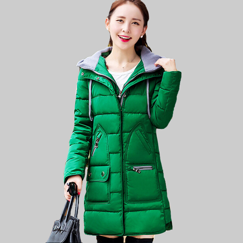 New 2015 Winter Women Down Cotton Jacket Thicker Warm Long Paragraph Removable Cap Slim Parkas Mujer Winter Cotton Coat DQ140Одежда и ак�е��уары<br><br><br>Aliexpress
