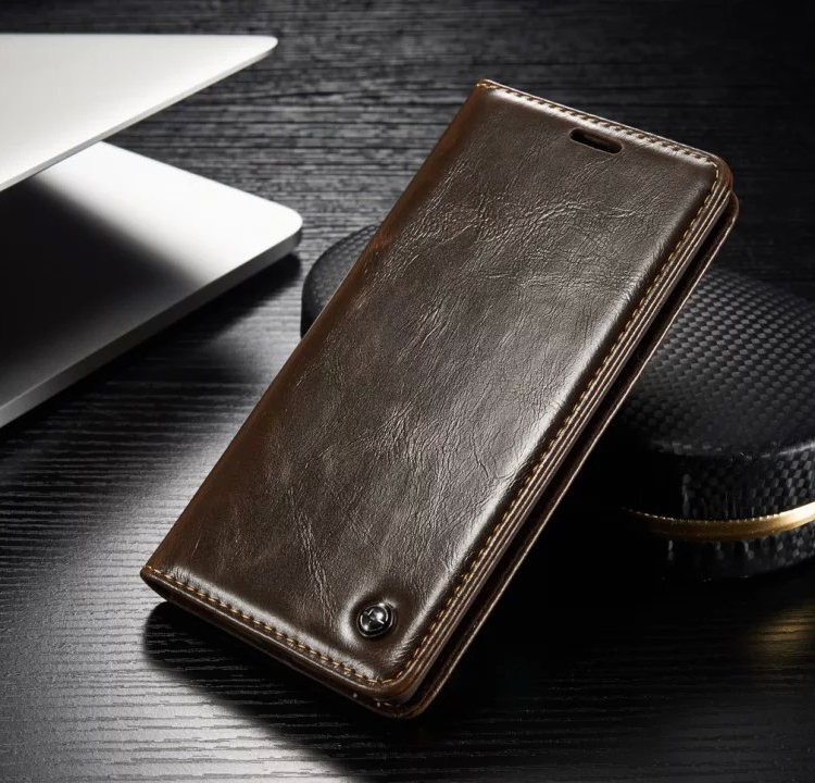 Original CaseMe Brand Leather Case for Samsung Galaxy S7 S6 Edge S5 S4 Magnet Flip Leather Cover for Samsung Galaxy Note 5 A7(China (Mainland))