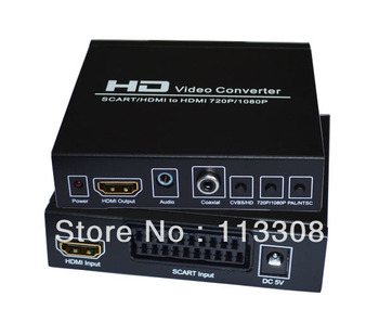 20pcs /lots  SCART / HDMI to HDMI converter Adapter , Free Shipping By FedEx
