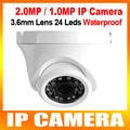 2MP 1MP 1080P 720P Outdoor Mini Dome IP Camera Metal 1920 1080 1280 720 Network Camera