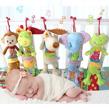 Buy Newborn Bed Lathe Hanging Ring Bell Baby Rattle Soft Hand Bell Cartoon Kawii Musical Plush Toys Doll Crib Stroller Rattles Pram for $7.59 in AliExpress store