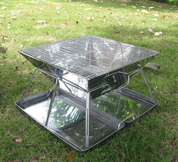 camping protable bbq grill edelstahl holzkohle klapp grill. Black Bedroom Furniture Sets. Home Design Ideas