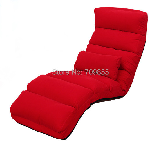 Modern Indoor Chaise Lounge Furniture Living Room Upholstered Chaise Lounger 5 Colors Floor Folding Adjustable Sleep