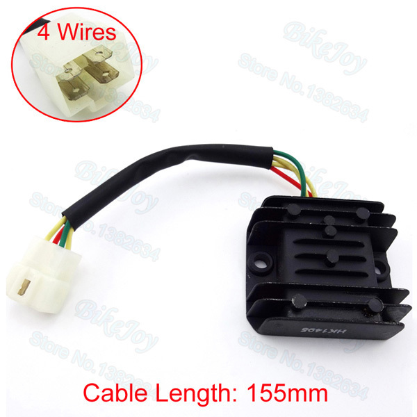 4 Wires Voltage Regulator Rectifier For GY6 Moped Scooter 125cc 150cc ATV Quad Motorcycle Motocross(China (Mainland))