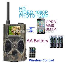Gute Qualität 12MP 940NM MMS Nachtsicht Jagd Kamera Falle Tier ändern Englisch Sprache russische Betrieb Freies Verschiffen(China (Mainland))