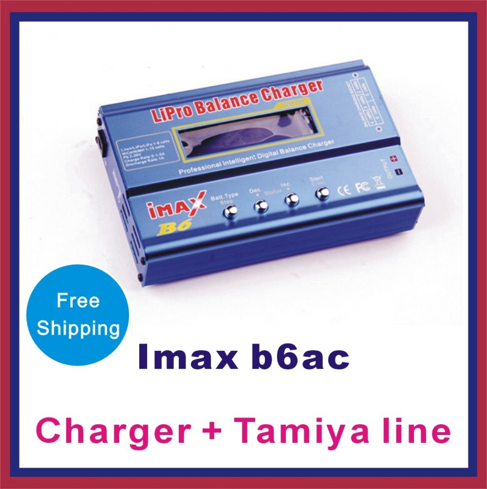Factory Direct IMAX B6 B8 B6AC Multifunction Balance Charger Package includes charger + Tamiya line(China (Mainland))